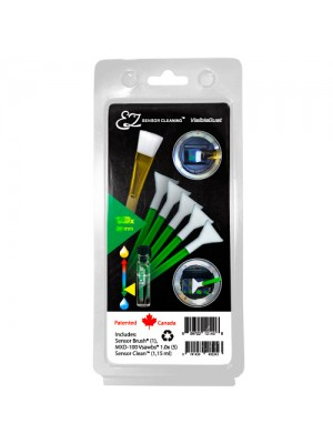 EZ Sensor Cleaning Kit™ PLUS Green Vswabs® and Sensor Clean™, Sensor Brush®