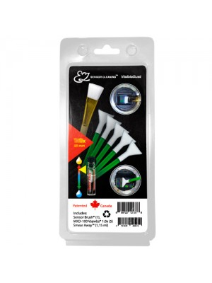 EZ Sensor Cleaning Kit™ PLUS Green Vswabs® and Smear Away™, Sensor Brush®