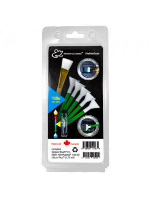 EZ Sensor Cleaning Kit™ PLUS Green Vswabs® and VDust Plus™, Sensor Brush®